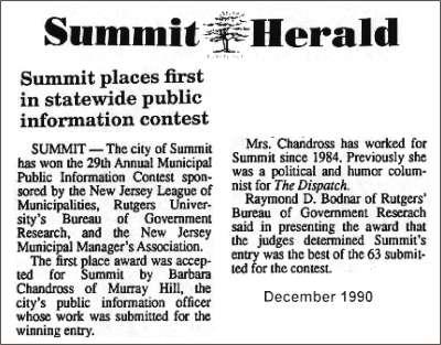 [Summit Herald, December 1990]