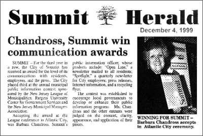 [Summit Herald, December 1999]