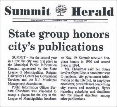 [Summit Herald, November 1998]