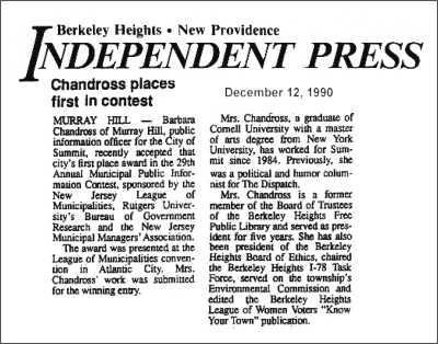 [Independent Press, December 1990]