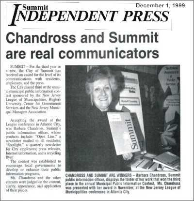 [Independent Press, December 1999]
