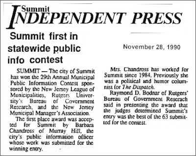 [Independent Press, November 1999]