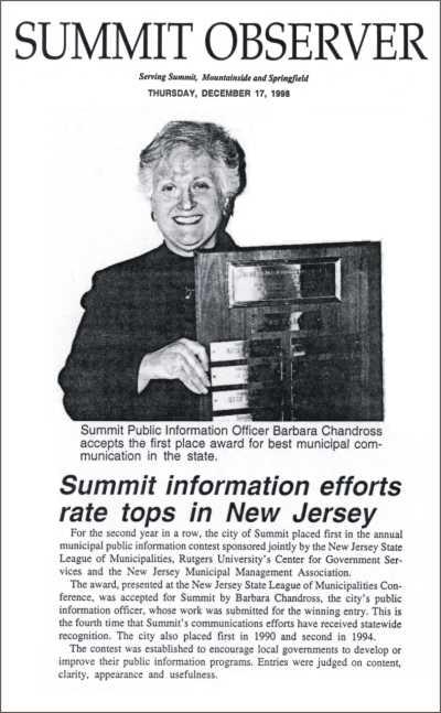 [Summit Observer, December 1998]