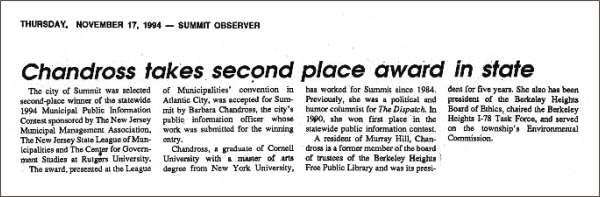 [Summit Observer, November 1994]