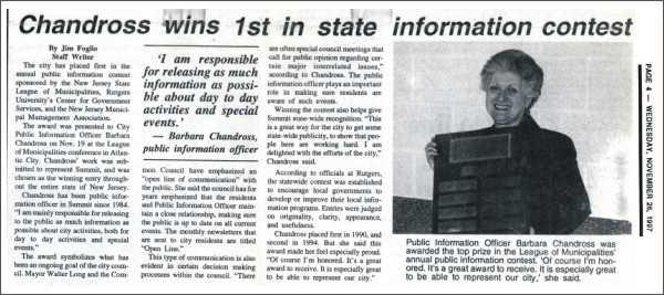 [Summit Observer, November 1997]