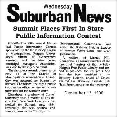 [Suburban News, December 1990]