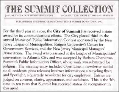 [Summit Collection, January 2000]
